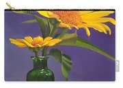 Sunflowers In A Green Bottle Carry-all Pouch
