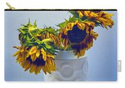 Sunflowers In Circle Vase Blue Tournesols Carry-all Pouch