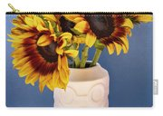 Sunflowers In Circle Vase Tournesols Carry-all Pouch
