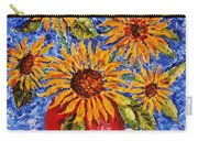 Sunflowers In Red Vase. Carry-all Pouch