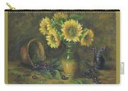 Sunflowers Carry-all Pouch by Katalin Luczay