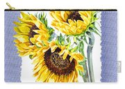 Sunflowers On Baby Blue Carry-all Pouch