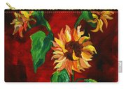 Sunflowers On Rojo Carry-all Pouch