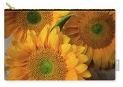 Sunflowers On White Boards Carry-all Pouch