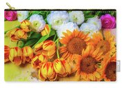 Sunflowers Tulips Carry-all Pouch