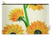 Sunflowers Using Palette Knife Carry-all Pouch