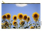 Sunflowers With A Cloud Carry-all Pouch