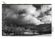 Sunlight Clouds And Snow In Black And White Carry-all Pouch