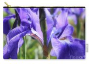 Sunlight On Blue Irises Carry-all Pouch by Carol Groenen