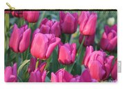 Sunlight On Pink Tulips Carry-all Pouch