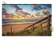 Sunlight On The Sand Carry-all Pouch by Debra and Dave Vanderlaan