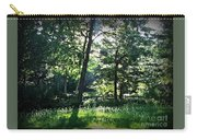 Sunlight Through Trees And Fence Carry-all Pouch