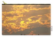 Sunlit Clouds Sunset Art Prints Gifts Orange Yellow Sunsets Baslee Troutman Carry-all Pouch