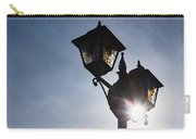 Sunlit Jewels - Stained Glass Lamps And Sunburst Right Carry-all Pouch