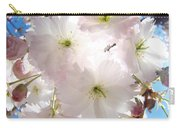 Sunlit Pink Blossoms Art Print Spring Tree Blossom Baslee Carry-all Pouch