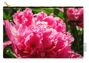 Sunlit Pink Peony Carry-all Pouch