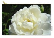 Sunlit White Rose Art Print Floral Giclle Print Baslee Troutman  Carry-all Pouch