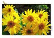 Sunlit Wild Sunflowers Carry-all Pouch