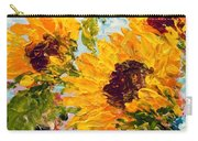 Sunny Day Sunflowers Carry-all Pouch by Barbara Pirkle