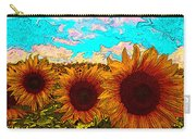 Sunny Faces- Sunflower Art Carry-all Pouch