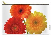 Sunny Gerbera On White Carry-all Pouch