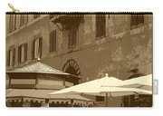 Sunny Italian Cafe - Sepia Carry-all Pouch by Carol Groenen
