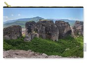 Sunny Panorama Of Greek Meteora Carry-all Pouch