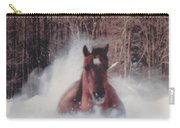 Sunny Running For The Barn. Carry-all Pouch