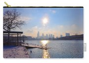 Sunny Schuylkill River In Winter Carry-all Pouch