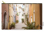 Sunny Street In Villefranche-sur-mer Carry-all Pouch