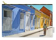 Sunny Street With Colored Houses - Cartagena-colombia Carry-all Pouch