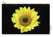 Sunny Sunflower Black Yellow Carry-all Pouch