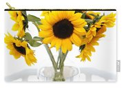Sunny Vase Of Sunflowers Carry-all Pouch