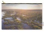 Sunraise Morning Summer Time Lake And Green Forest, In Poland  Carry-all Pouch