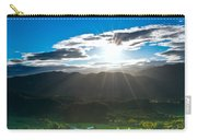 Sunrays Flood Farmland During Sunset Carry-all Pouch