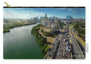 Sunrays Paint The Austin Skyline As Rush Hour Traffic Picks Up On I-35 Carry-all Pouch