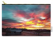 Sunrise And Horse Barn Carry-all Pouch