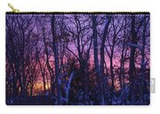 Sunrise And Snow Carry-all Pouch