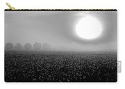 Sunrise And The Cotton Field Bw Carry-all Pouch