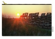 Sunrise And The Lifeguard Chairs  Carry-all Pouch