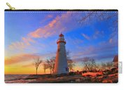 Sunrise At Marblehead Lighthouse Panorama Carry-all Pouch