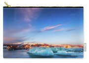Sunrise At The Iceberg Lagoon Carry-all Pouch