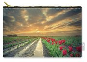 Sunrise At Tulip Filed After A Storm Carry-all Pouch