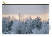 Sunrise Glos Behind Trees Frozen Trees Carry-all Pouch
