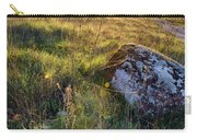 Sunrise In Field. Stone In Front Carry-all Pouch