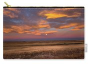 Sunrise On The Plains - Moon Over Prairie In Eastern Colorado Carry-all Pouch