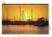 Sunrise Over Long Beach Harbor - Mississippi - Boats Carry-all Pouch
