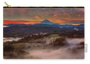 Sunrise Over Mount Hood And Sandy River Valley Carry-all Pouch