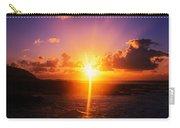 Sunrise Over Ocean, Sandy Beach Park Carry-all Pouch