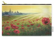 Sunrise Over Poppies Carry-all Pouch